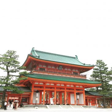 Heian shrine in Kyoto. Location scouting,,,