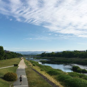 Chill out at Kamogawa river in Kyoto