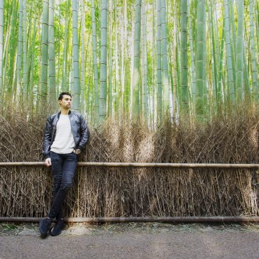 Like being a fashion photographer. Shooting in bamboo forest in Kyoto.